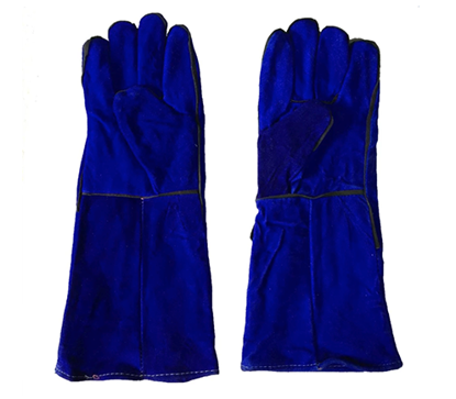 """Picture of S-Ks Tools USA 16"""" Genuine Cowhide Welding Gloves (Blue)"""