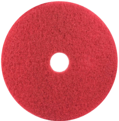 """Picture of 3M 5100 20"""" Red Buffing Floor Pad - 5/Case"""