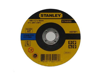 """Picture of STANLEY 4"""" GRINDING DISC  -METAL -100 x 6.0 x 16mm"""