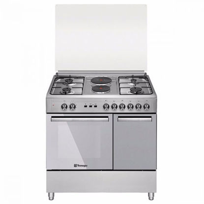 Picture of Tecnogas TFG9142CRX 90cm range, 4 Gas Burners + 2 Fast Heating Electric Plates │ Gas Oven + Gas Grill │ Rotisserie
