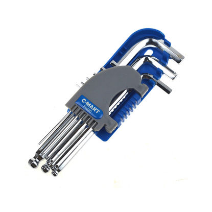 Picture of 9-Piece Ball Point Hex Key Set, Long Arm F0020