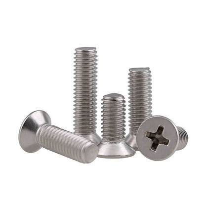 Picture of 304 Stainless Steel Stove Bolt  Flat Head
