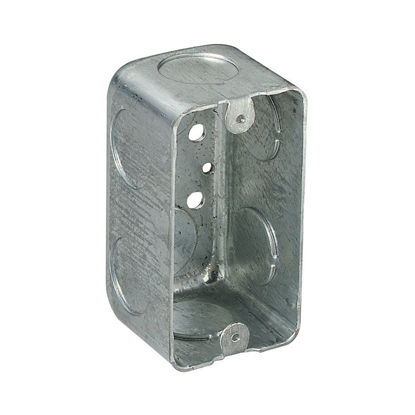 """Picture of Utility Box 2-1/8"""" x 2-1/8"""" Deep With Grounding Terminal 58371-1/2"""