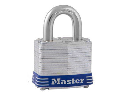 Picture of Master Lock 40MM 19MM Shackle  Laminated Steel Padlock,  MSP3D