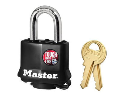 Picture of Master Lock 40mm 25mm Black Laminated Steel Padlock, MSP311D