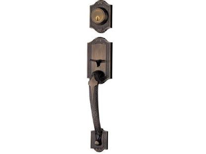 Picture of Ezset Antique Brass Single Handleset EZ400WI/BAUS5