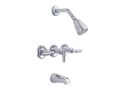 Picture of Eurostream Standard Lever Handle Three Handle Tub Faucet & Shower