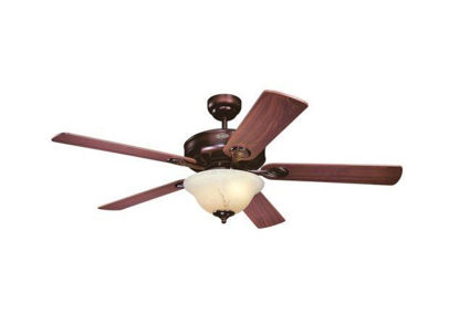 """Picture of Westinghouse Bethany Rustic Bronze Finish 5 Blades 52"""" with Mahogany / Rich Walnut Blades"""