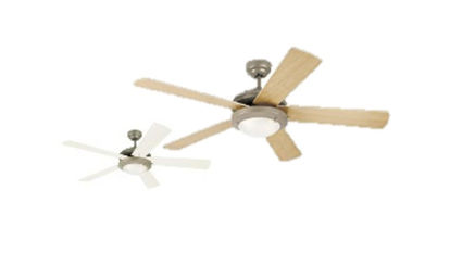 "Picture of Westinghouse Ceiling fan Comet, 5-blade 52"" Brushed Pewter"