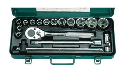 Picture of Hans 17 Pcs. 6 Pts. Socket Wrench Set - Inches Size
