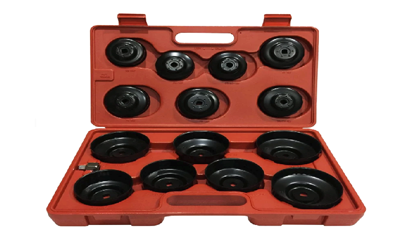 """Picture of Licota 3/4"""" Drive Cup-Type Oil Filter Wrench Set (Black), ATA-0291"""