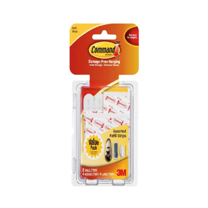 Picture of 3M Command Clear Refill Strips Assorted