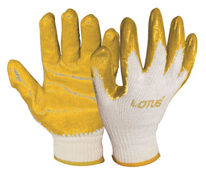 Picture of Lotus LSCG600Y Rubber Gloves (Yellow/Orange)