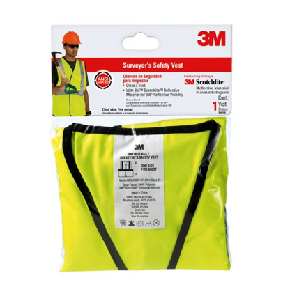 Picture of 3M 'SAFETY VEST SURVEYOR HI-VIZ YELLOW'