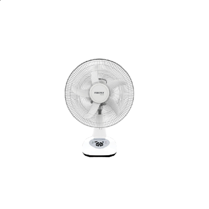 """Picture of Firefly 14"""" Oscillating Multi-speed Fan with USB Mobile Phone Charger& 4 LED Night Light FEL618"""