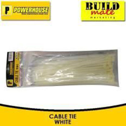 Picture of Powerhouse Nylon Cable Tie White No. 6