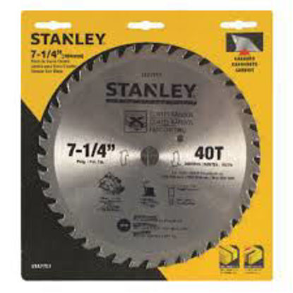 """Picture of Stanley Circular Saw Blade Carbide Teeth 40T x 7-1/4"""""""