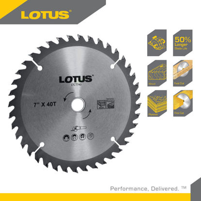 "Picture of Lotus TCT SAW BLADE 4"" 40T (MULTI) LT4-40MMX"