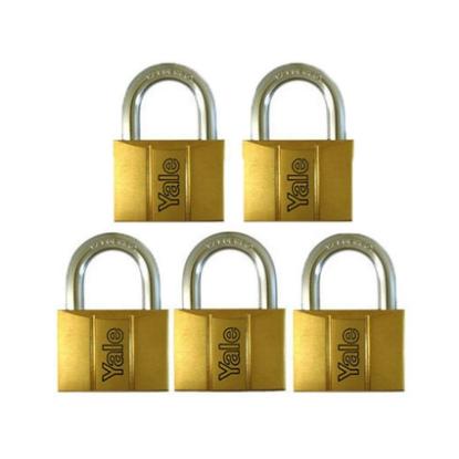 Picture of Brass Padlocks Key Alike 5 Pieces, Multi-Pack V140.50KA5