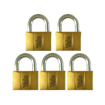Picture of Brass Padlocks Key Alike 5 Pieces, Multi-Pack V140.60KA5