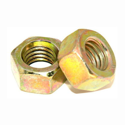 Picture of Grade 4.8 Zinc Plated Nut, Metric Hex nut,yellow Zinc Nut