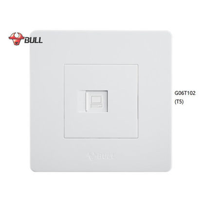Picture of Bull 1 Gang Computer Modular Outlet Set (White), G06T102(T5)