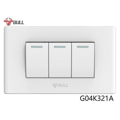 Picture of Bull 3 Gang 1 Way Switch Set (White), G04K321A