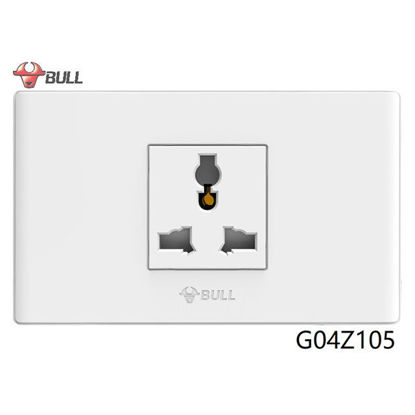 Picture of Bull 1 Gang Universal Outlet Set (White), G04Z105