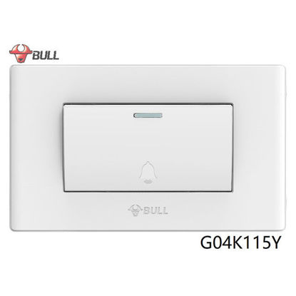 Picture of Bull 1 Gang Doorbell Switch Set (White), G04K115Y