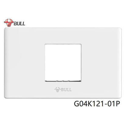 Picture of Bull 1 Gang Plate (White), G04K121-01P