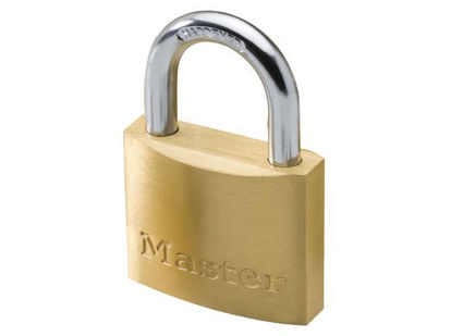Picture of Master Lock 40MM Hard Steel Shackle Brass Padlock, MSP1902D
