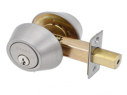 Picture of Ezset Deadbolt  Dbl. Cyl.  Zinc House Satin Stainless Steel