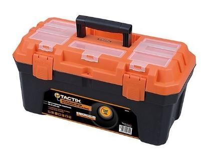 Picture of Tactix Plastic Tool Box - 4.5kg, Black