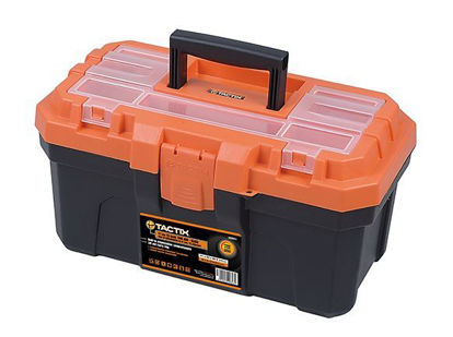 Picture of Tactix Plastic Tool Box - 6kg, Black