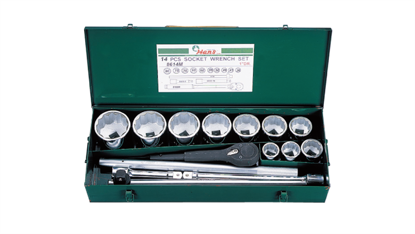 "Picture of Hans 1"" Drive 14 Pcs. Socket Wrench Set - 8614 - Metric Size"