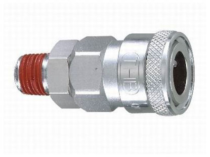 "Picture of THB 3/8"" Zinc Quickly Coupler Body - Male End"
