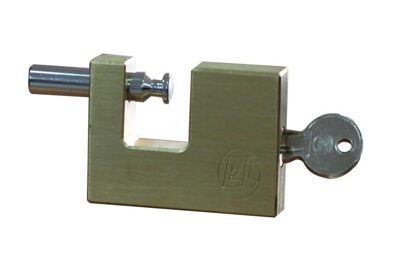 Picture of EL Block Brass Padlock ELBL7060