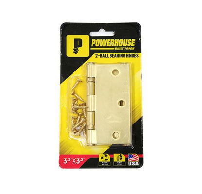 Picture of Powerhouse 2- Ball Bearing Hinges  Brass (US3)