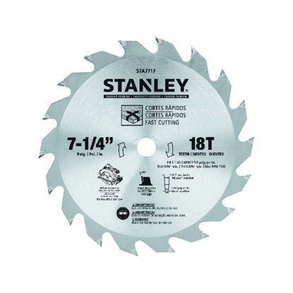 Picture of Stanley Circular Saw Blade Carbide Teeth 18T x 7 1/4