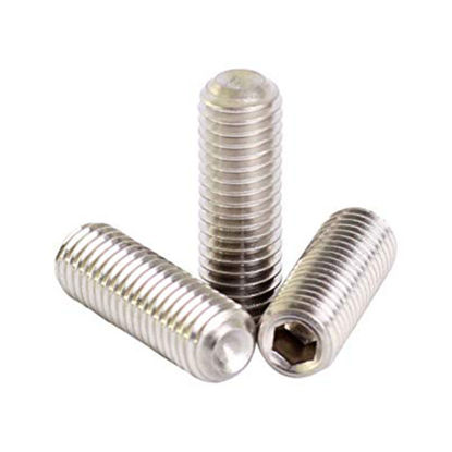 Picture of 304 Stainless Steel Hex Allen Head Socket Set Screw Bolts with Internal Hex Drive, Allen Socket Set Screws, Metric Size From M2 to M14
