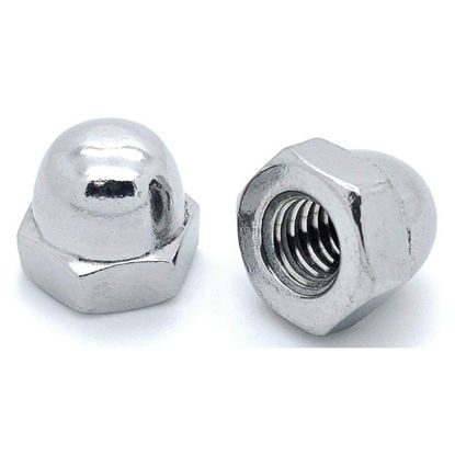 Picture of 304 Stainless Steel Cap Nut Metric Size