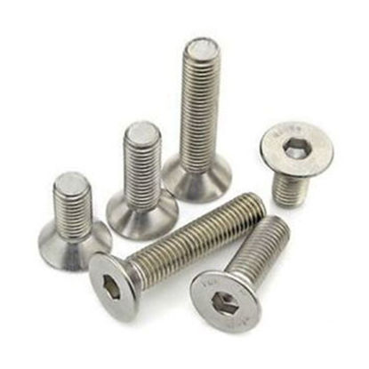 Picture of 304 Stainless Steel Allen Flat Head Socket Screws - Inch Size