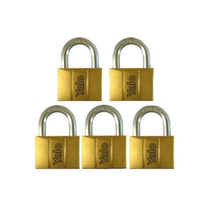 Picture of Brass Padlocks Key Alike 5 Pieces, Multi-Pack V140.40KA5