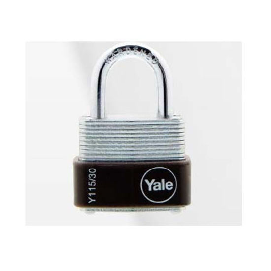 Picture of Yale Y115/30/117/1, Laminated Steel Padlock 30mm, Y115301171