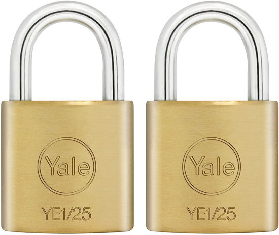 Picture of Yale YE1/25/113/2, Essential Series Indoor Solid Brass Padlock 25mm, YE12511132