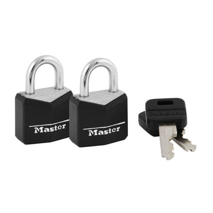 Picture of Master Lock Brass 19MM with 11MM Shackle, 2 PIieces Key-Alike Padlock, MSP121TBLK
