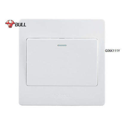 Picture of Bull 1 Gang 1 Way Switch Set (White), G06K111Y