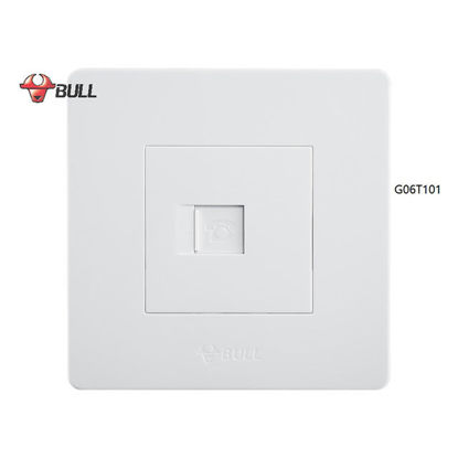 Picture of Bull 1 Gang Telephone Outlet Set (White), G06T101