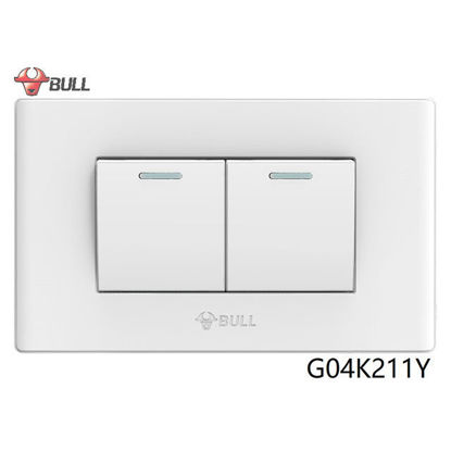 Picture of Bull 2 Gang 1 Way Switch Set (White), G04K211Y