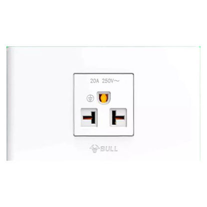 Picture of Bull 1 Gang Air Tandem Outlet Set (White), G04Z110